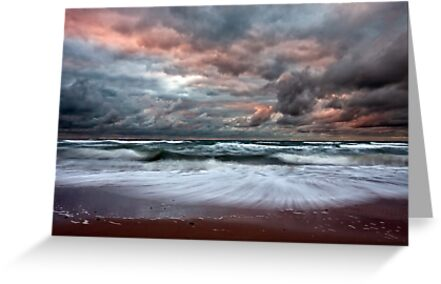 Stormy Skies of Inverness Beach Nova Scotia  by EvaMcDermott