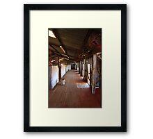 woolshed Framed Print
