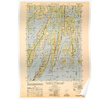 Maine USGS Historical Map Orrs Island 807005 1950 25000 Poster