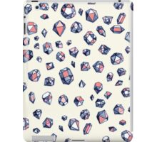 Navy & Coral Crystals iPad Case/Skin