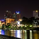 Melbourne at night. by Mark Jones