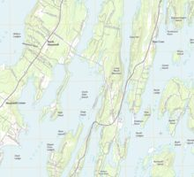 Maine USGS Historical Map Orrs Island 20110830 TM Sticker