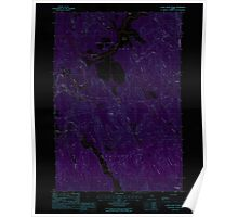 Maine USGS Historical Map Otter Chain Ponds 102851 1988 24000 Inversion Poster