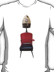 Vintage Retro Barber Hair Dryer And Chair T-Shirt
