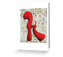 Red Poodle Greeting Card
