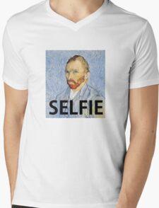 Van Gogh Selfie Mens V-Neck T-Shirt