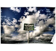 Walking Through Clouds down the beach  Poster