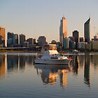 Boat Moored at South Perth by Adrian Lord