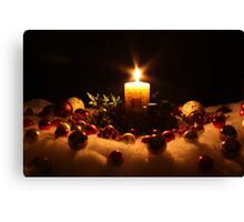 A Candle for Christmas Canvas Print