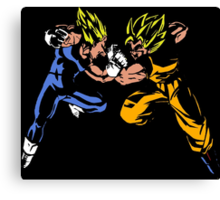 Goku versus Vegeta Canvas Print