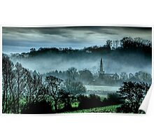 Chiselborough Misty Morning Poster