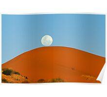 Big Red Moonrise Poster
