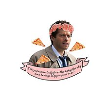 Castiel Pizzaman Photographic Print
