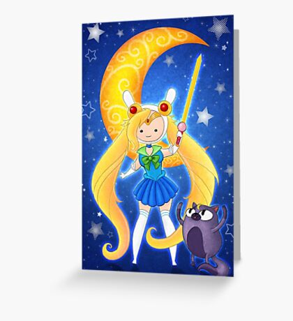 Sailor Fionna and Cake Greeting Card