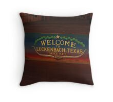 Luckenbach, Texas dance floor Throw Pillow