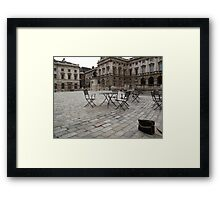 Dull afternoon, Somerset House, London Framed Print
