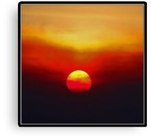 Autumn Sunset: Socal Style Canvas Print