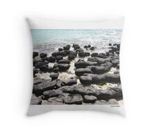 Stromatolites - Monkey Mia, WA Throw Pillow