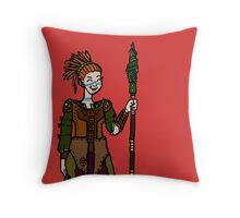 Emerald spear Throw Pillow