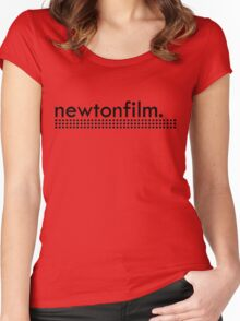 Logo large centered Black/Black Women's Fitted Scoop T-Shirt
