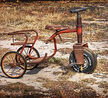 Old Tricycle by Claire  Farley
