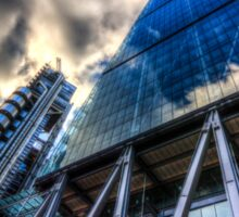 The Lloyd's of London Cheesegrater and Willis Group London Sticker