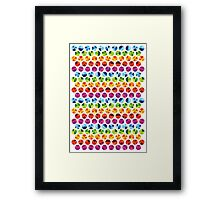 Colour wheels Framed Print