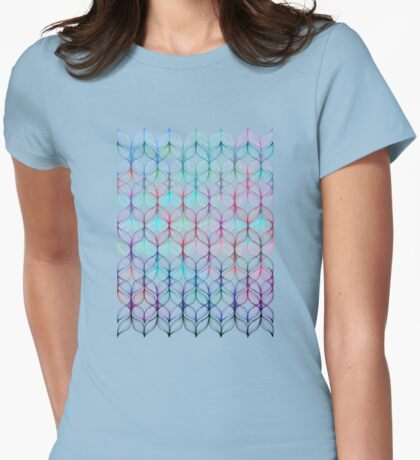 Mermaid's Braids - a colored pencil pattern Womens Fitted T-Shirt