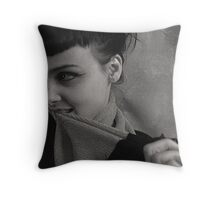 thinking fun thoughts Throw Pillow
