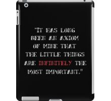 Sherlock Holmes, The Little Things iPad Case/Skin
