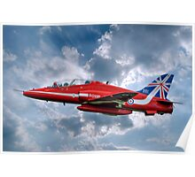 Hawk T1A Red Arrows - 50 Display Season Colours Poster