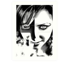 Black and White eyesight Art Print
