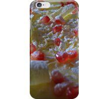 White Chocolate and Pomegranite Cheesecake iPhone Case/Skin
