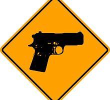 Pistol Sign by ukedward