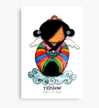 Rainbow - Angel of Hope Canvas Print