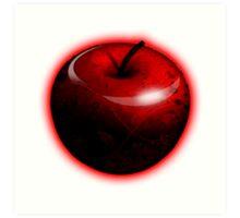 Dark Shiny Red Candy Apple Art Print