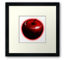 Dark Shiny Red Candy Apple Framed Print