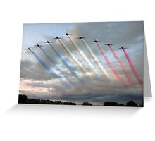 Red Arrows - Arrival Greeting Card