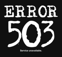 Error 503. Service unavailable. by FrontierMM