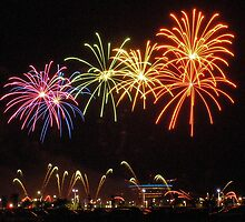 Fireworks Multi-Colored Spiders by Joy Leong-Danen