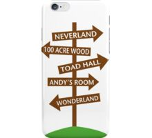 Direction Sign to Disney's Fictional Locales iPhone Case/Skin