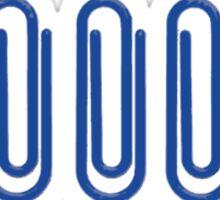 5 Blue Paper Clips Sticker