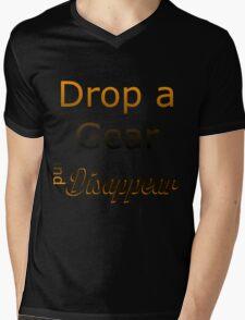 Drop a Gear Mens V-Neck T-Shirt