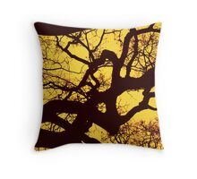 Tinted branches Throw Pillow