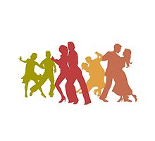 Colorful Tango Dancers  by peculiardesign