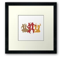 Colorful Flamenco Dancers Framed Print