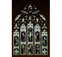 Window in St David's Anglican Cathedral, Hobart Photographic Print