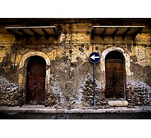 This way to the Gelati Shop! Photographic Print