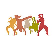Colorful Hip Hop Dancers by peculiardesign