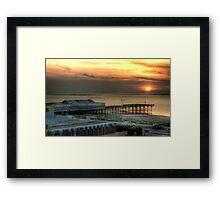 Fleetwood Pier Framed Print